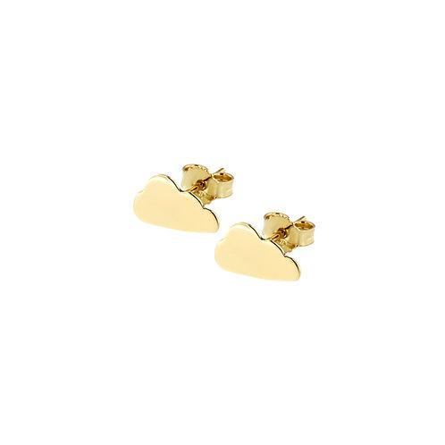 Orecchini in oro giallo con nuvoletta