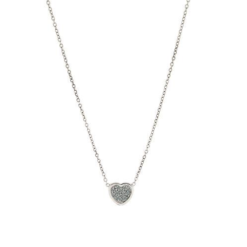 Collana con cuore di diamanti