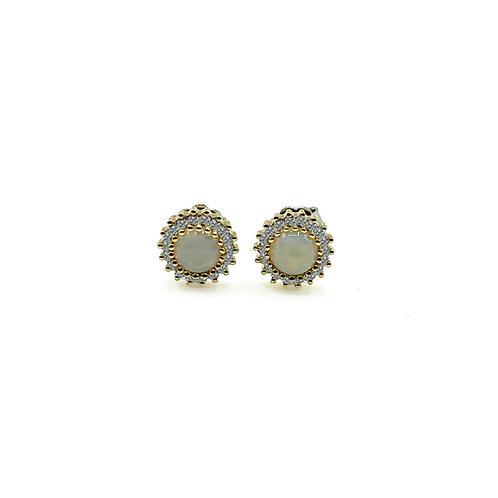 Orecchini in oro con opale e diamanti