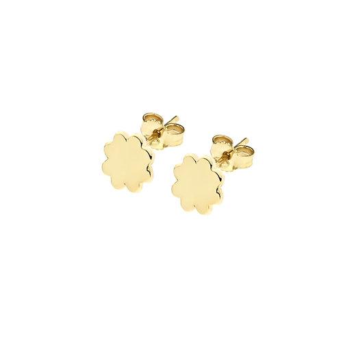 Orecchini in oro giallo con quadrifoglio