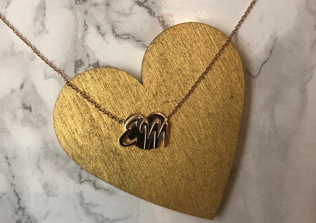 Collana in oro giallo con ciondolo  da stampa 3D