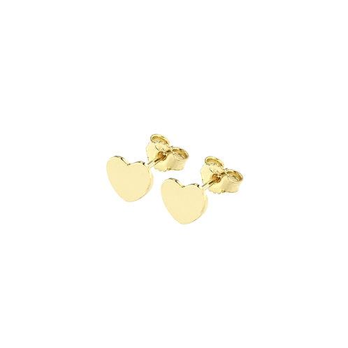 Orecchini in oro giallo con cuoricino