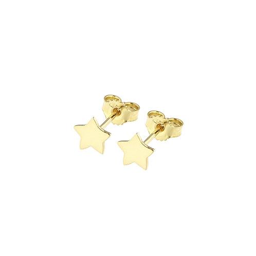 Orecchini in oro giallo con stellina