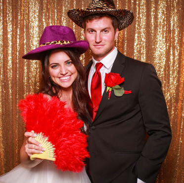 Tyler and Courtney's Wedding Photo Booth at the Powel Crosley Estate in Sarasota, FL