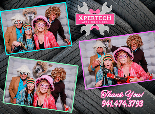 Xpertech Business Card Exchange Event Photo Booth, Englewood, FL