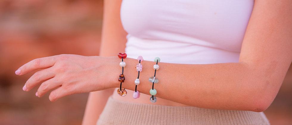 Australian South Sea Pearl with Glass beads Bracelet