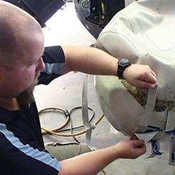 Cone repair on a RIB