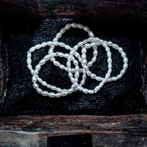 Tiny Pearls ring