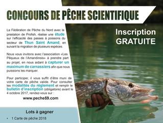 Concours de pêche scientifique à Thun-Saint-Amand