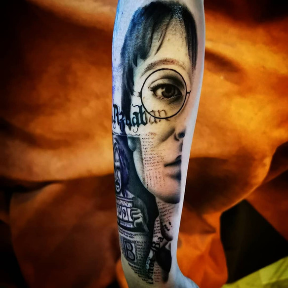 close up tataouge harry potter