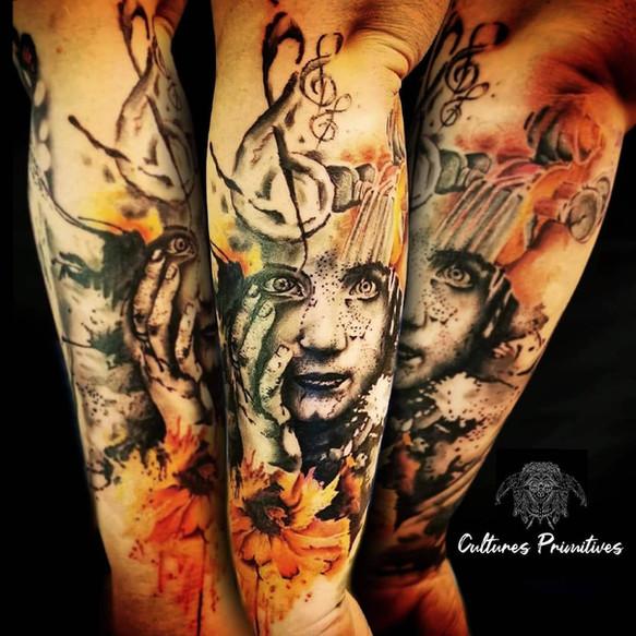 abstract tatoo portrait