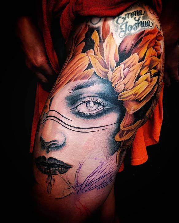goddess tattoo portrait