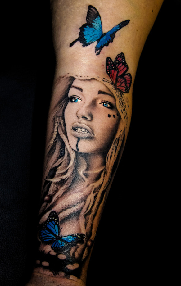 butterfly tattoo composition