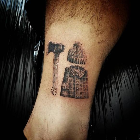 tatouage de bucheron
