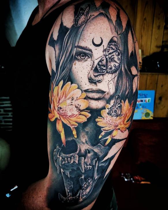 """""""je vous est dit que j'adorer les portrait en tattoo ;)"""