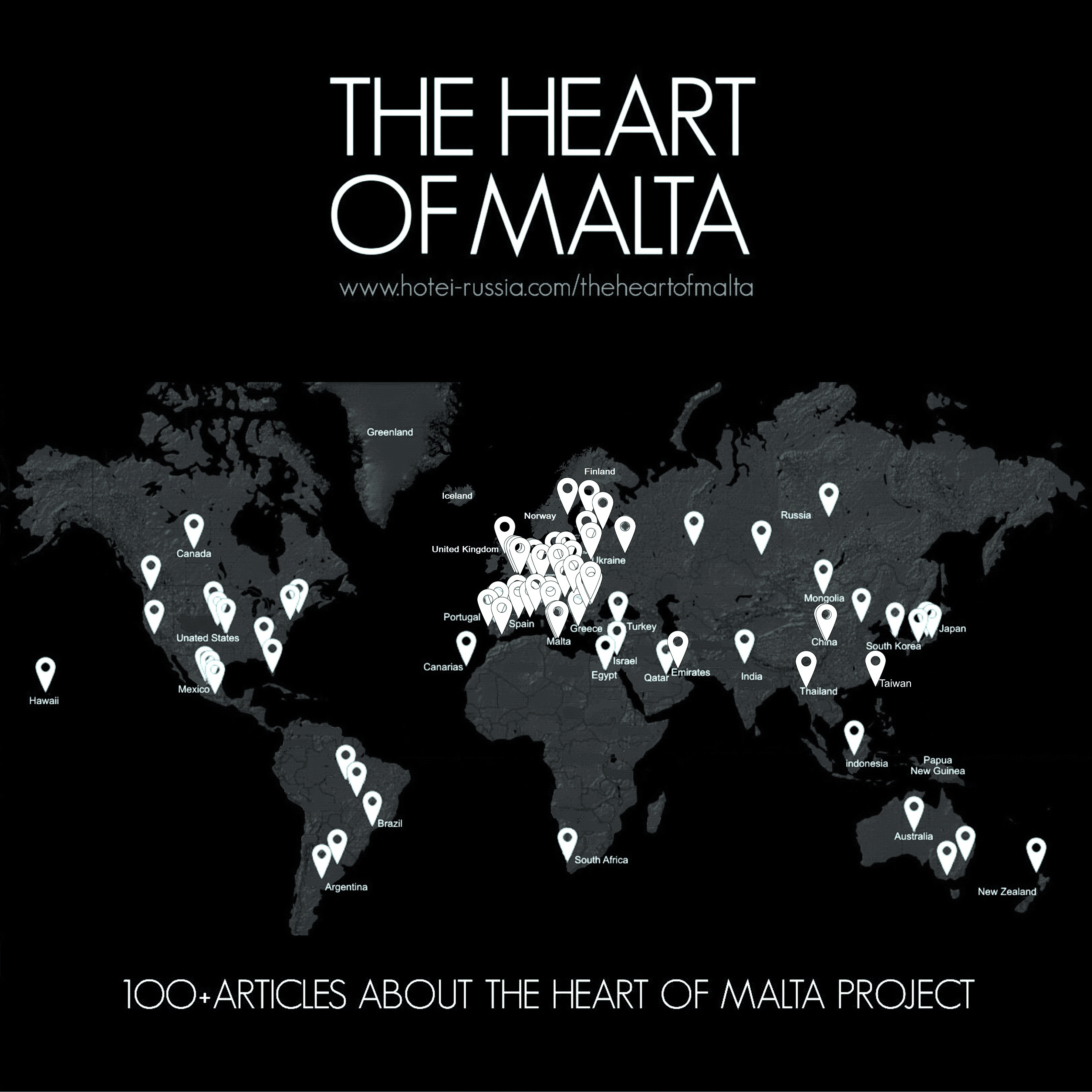 MEDIA COVERAGE OF THE HEART OF MALTA