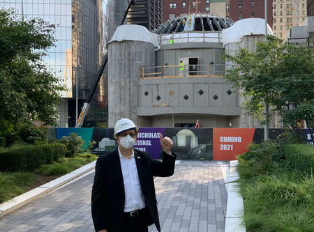 St. Nicholas National Shrine Construction Restart
