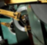 closeup af brede coils på HVM stanseri