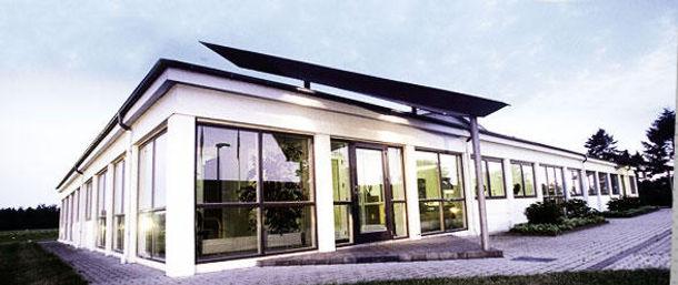 Closeup af HMV kontorbygning