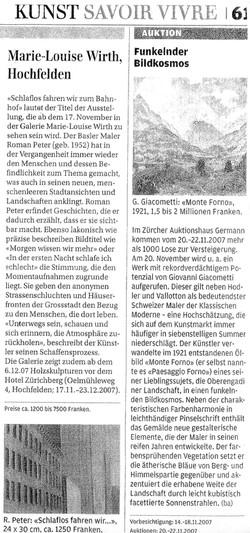 2007, Handelszeitung