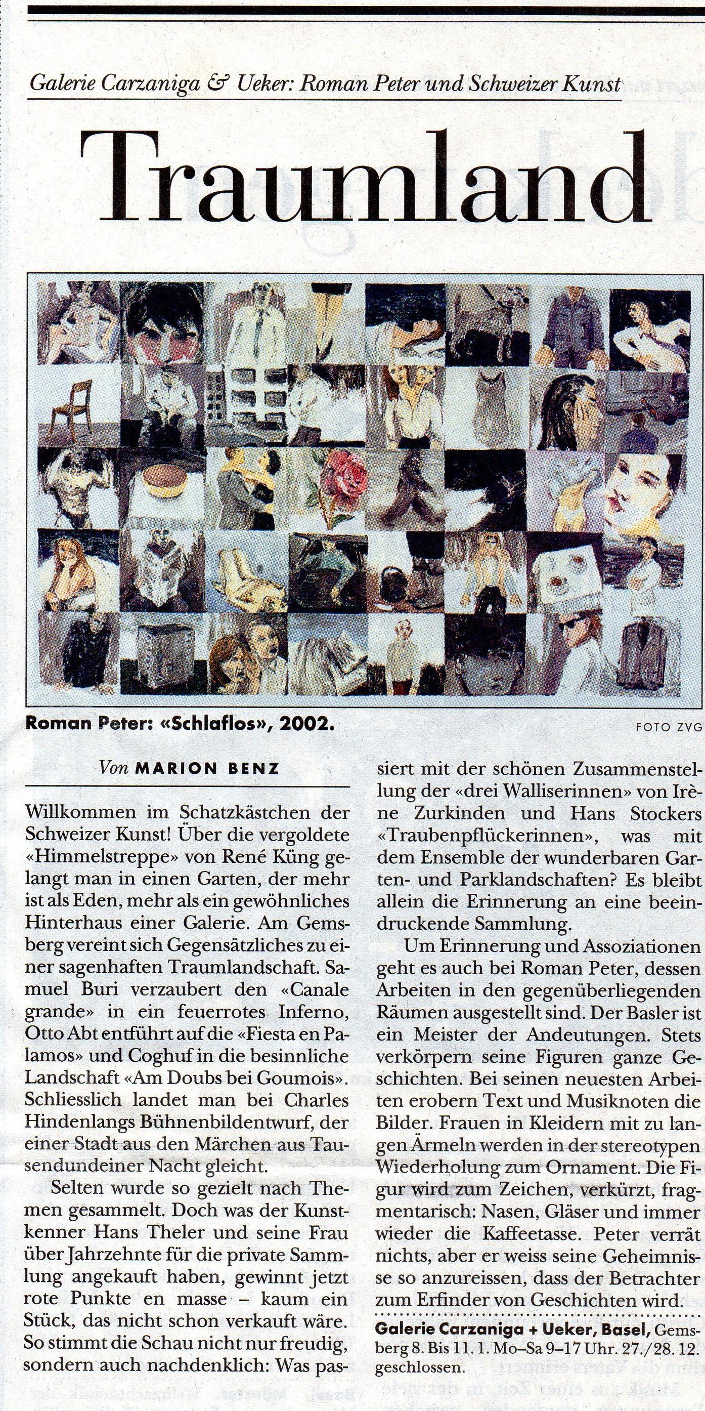 Dezember 2002, Basler Zeitung