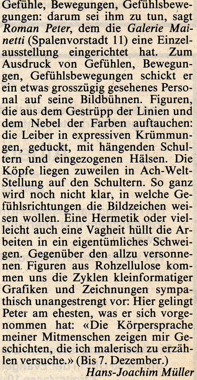 1989, Basler Zeitung