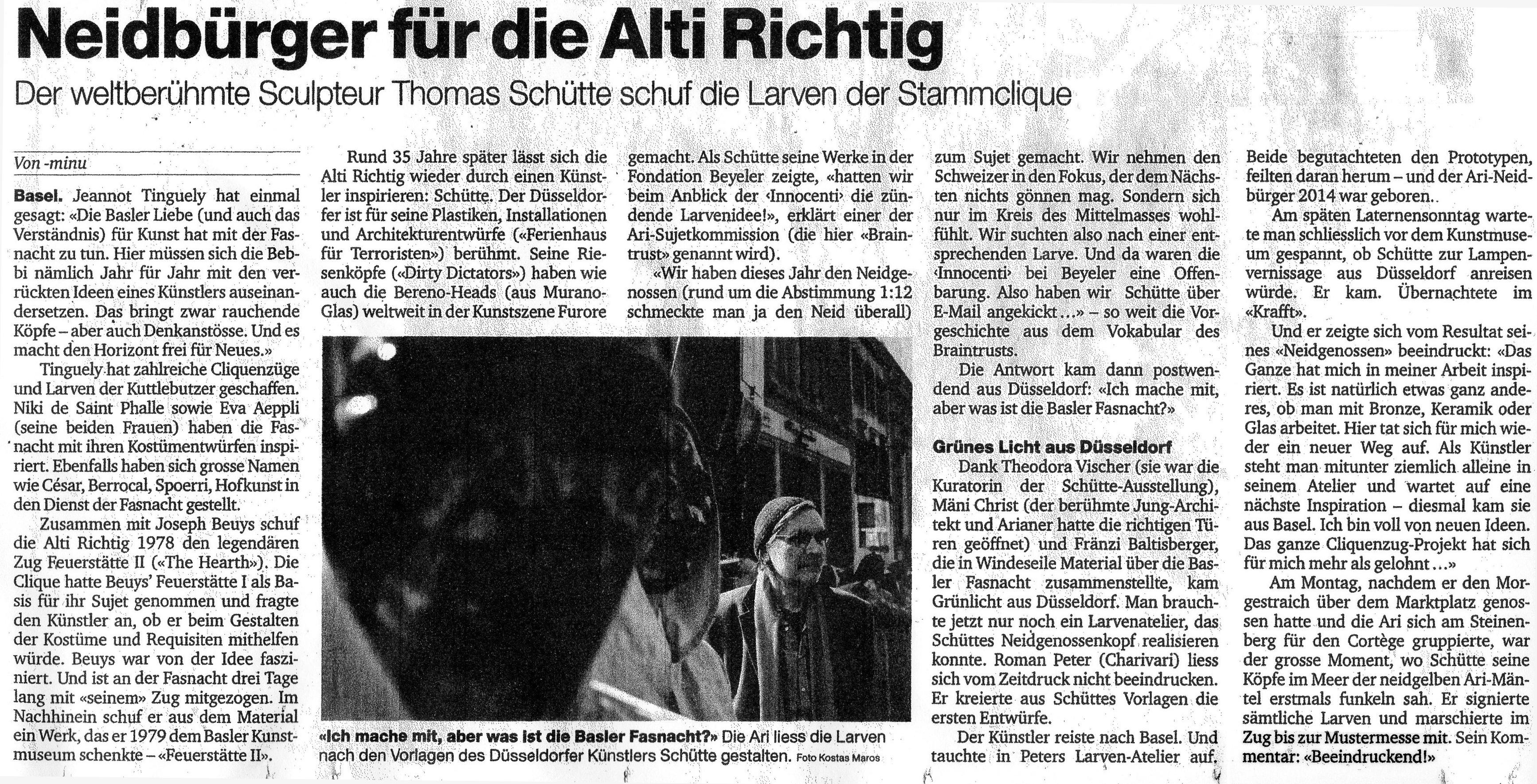 2014, Basler Zeitung