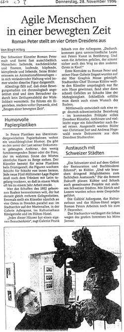 November 1996, Schwäbische Zeitung