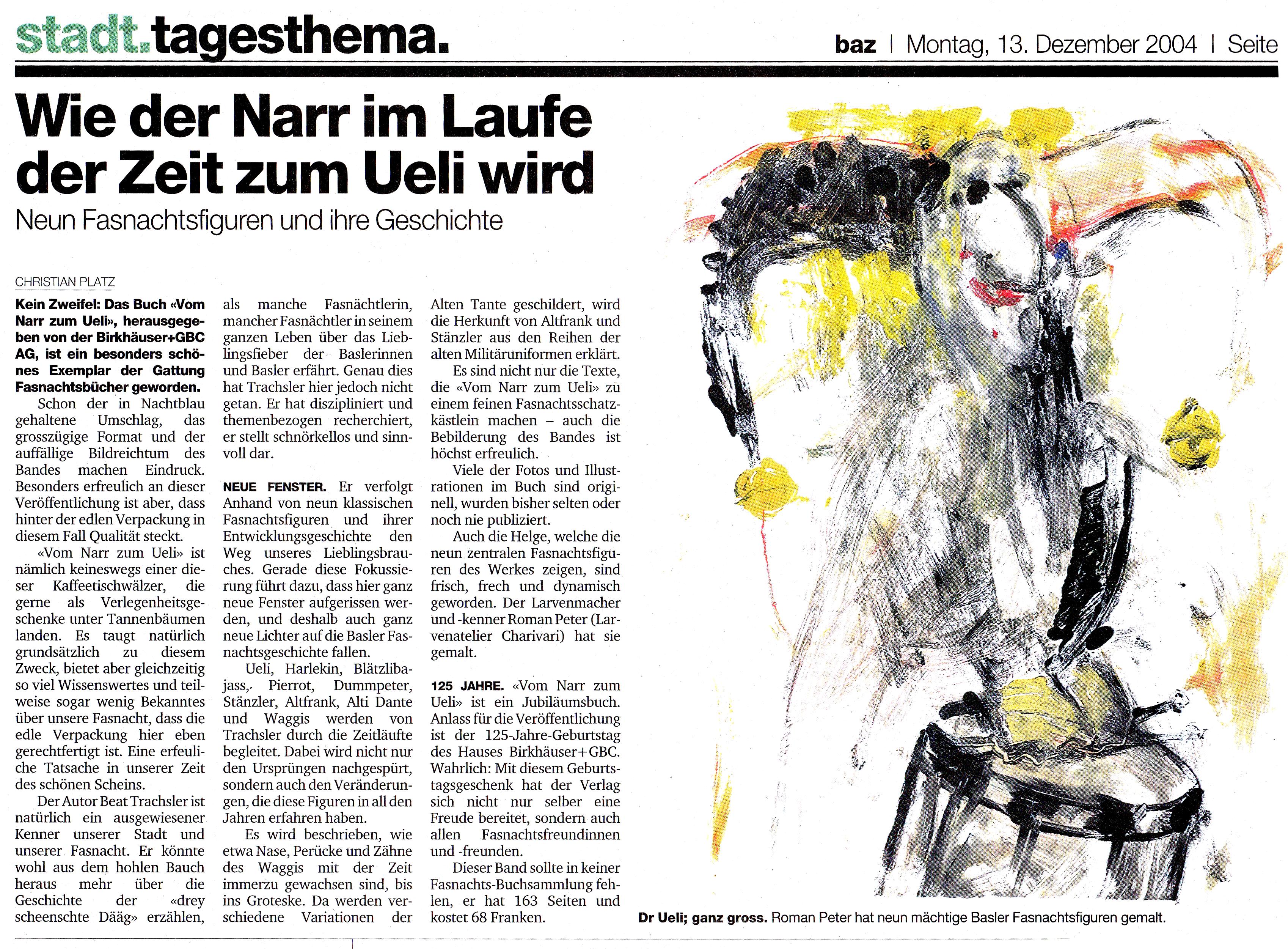 Dezember 2004, Basler Zeitung