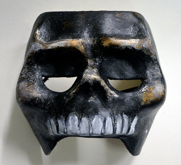 Totenkopf mit Gummiband (Kupfer)