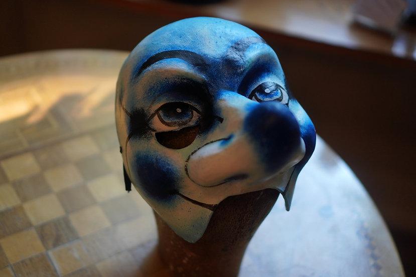 Waggis-Larve mit Gummiband (Pfeifer/Blau)