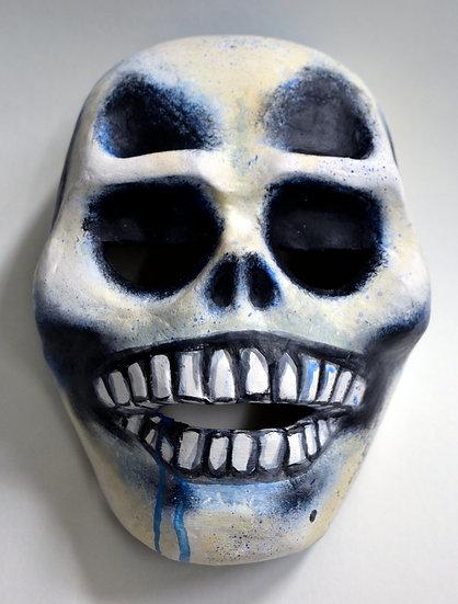 Totenkopf mit Gummiband (blau)