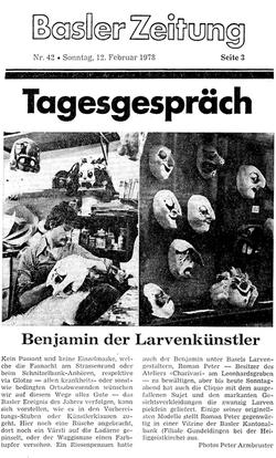 Februar 1978, Basler Zeitung