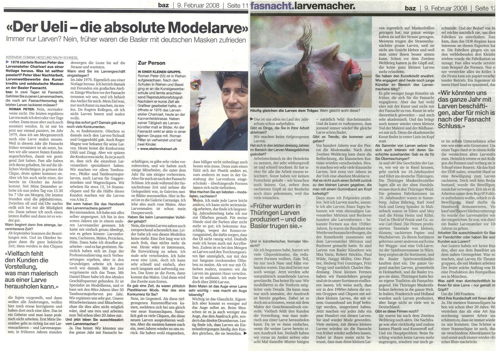 Februar 2008, Basler Zeitung