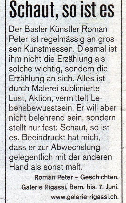 Mai 2003, Sonntagsblick