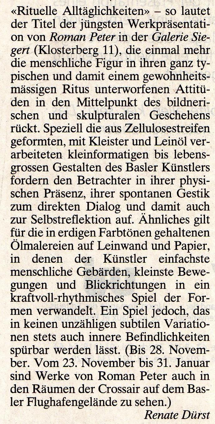 November 1995, Basler Zeitung