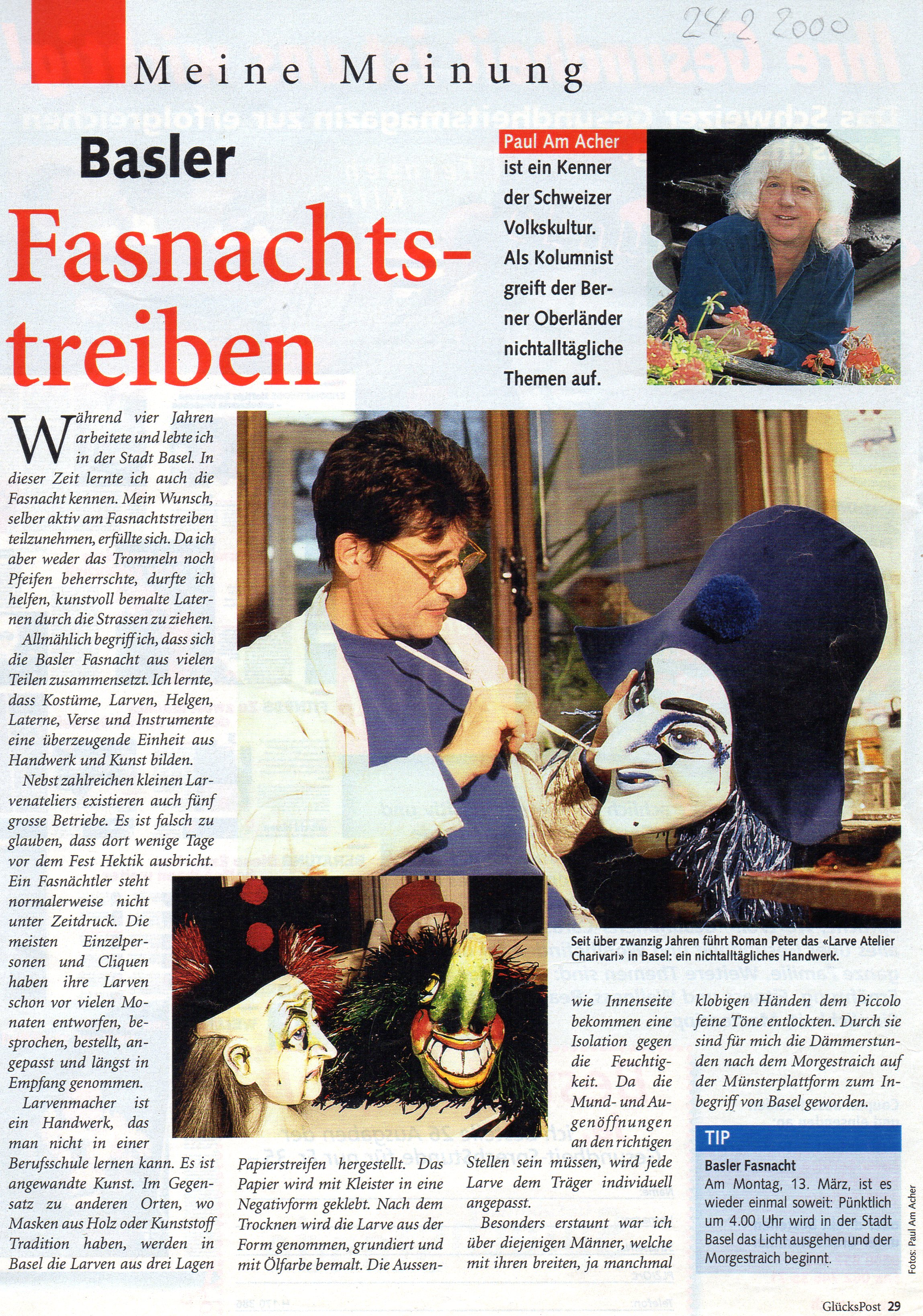 Februar 2000, Glückspost