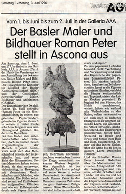 Juni 1996, Tessiner Zeitung