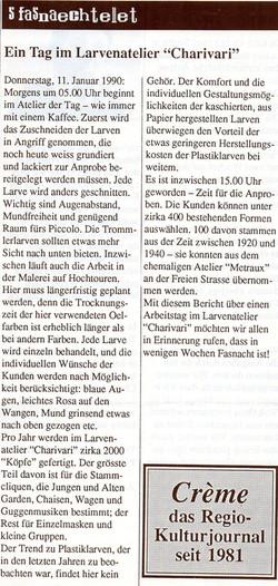 1990, Crème Kulturjournal
