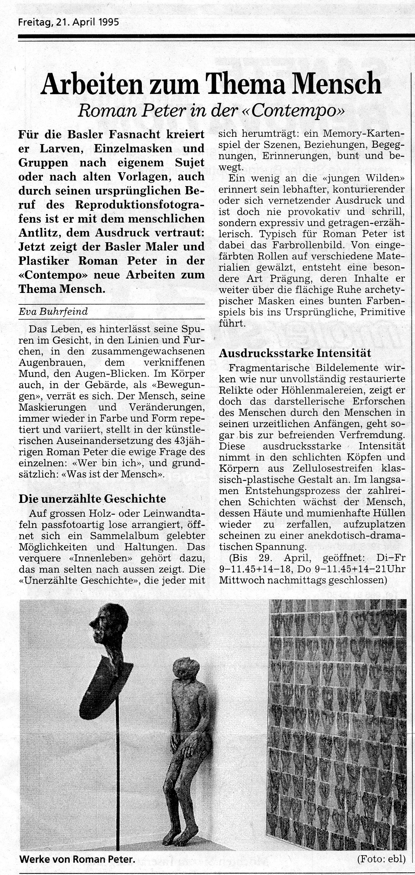 April 1995, Bieler Tagblatt