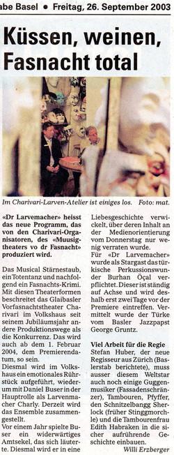 September 2003, Baslerstab