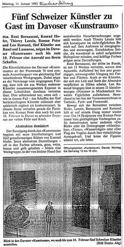 Januar 1993, Bündner Zeitung