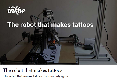 the first tattooing robot creates tattoo ideas
