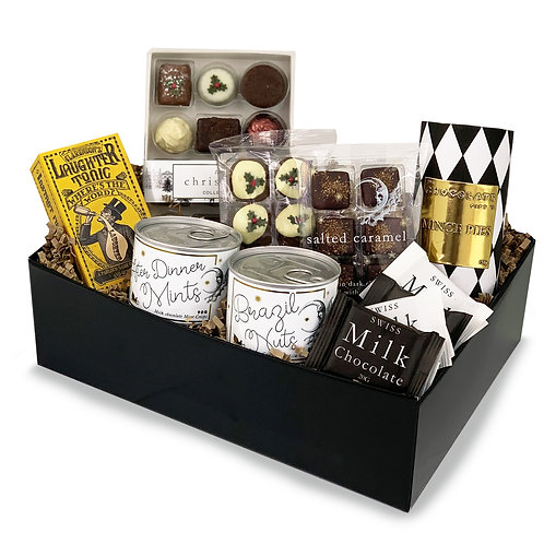 Boxing Day After Dinner Chocolate And Games Hamper