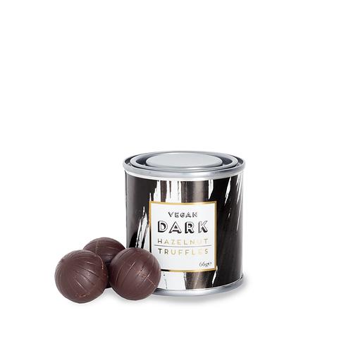 Vegan Hazelnut Praline Spheres Coated in Dark Chocolate