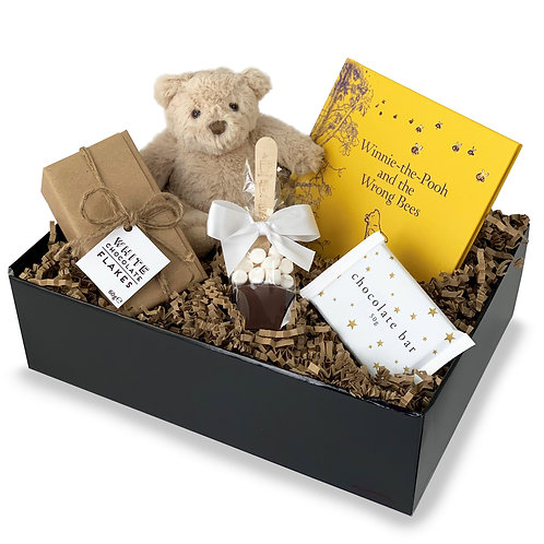 Childrens Chocolate, Bear And Book Hamper