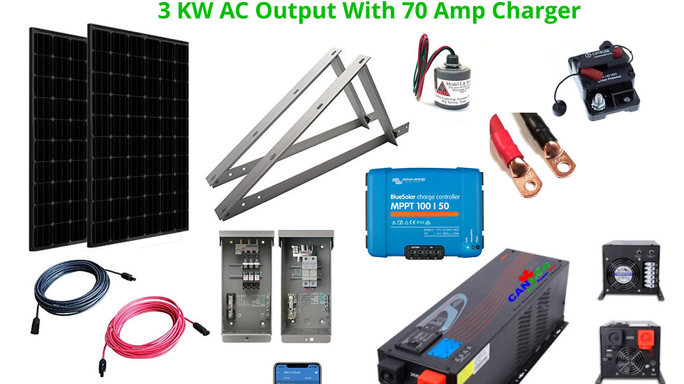 Year Round 800 Square Foot DIY Solar Cabin Power Kit Complete With LiFeP04 Batts