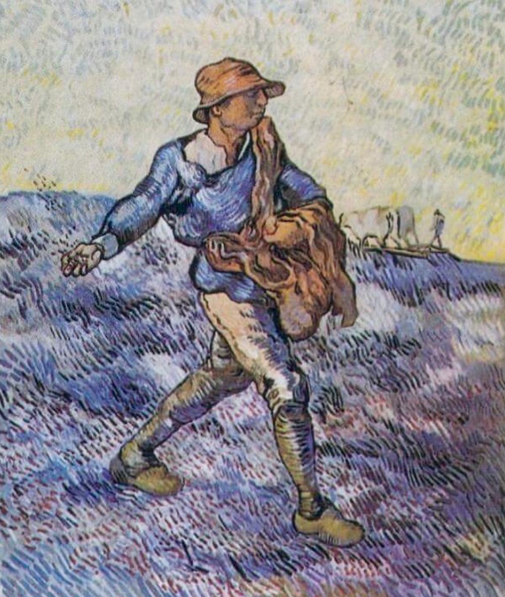 Sower After Millet, 1889 by Vincent Van Gogh