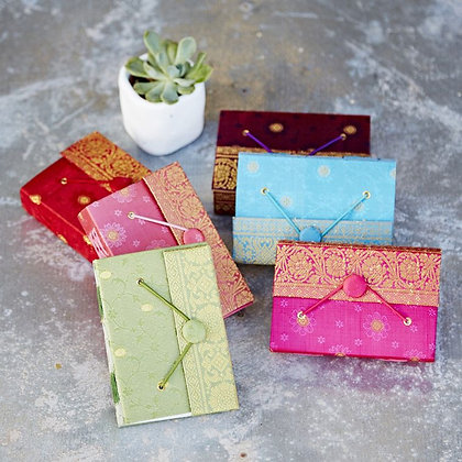 Recycled Sari Fabric Notebooks