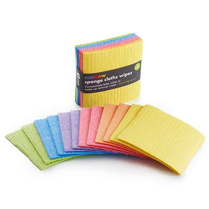 Rainbow Compostable Sponge Cloth Wipes (12pk small)